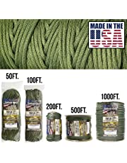 TOUGH-GRID 750lb Paracord/Parachute Cord - Genuine Mil Spec Type IV 750lb Paracord Used by The US Military (MIl-C-5040-H) - 100% Nylon - Made in The USA.