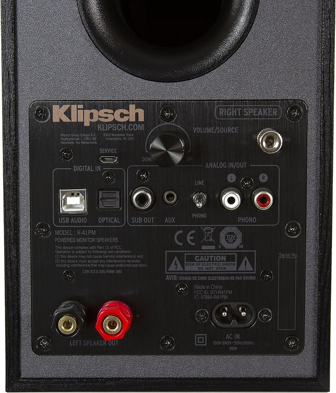 Amazon.com: Klipsch R-41PM Powered - Estantería flexible ...