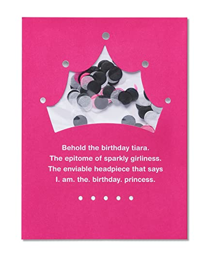 Amazon American Greetings Funny Tiara Birthday Card For Her