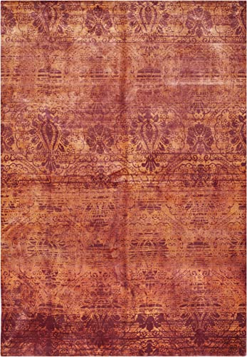 Safavieh Tibetan Collection TIB551C Hand-Knotted Rust Wool Area Rug 9 x 12