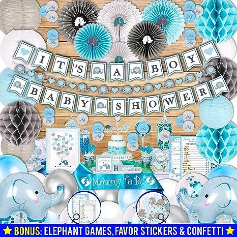 Birthday and Baby Shower Elephant Decorations Baby Elephant Happy Birthday Banner