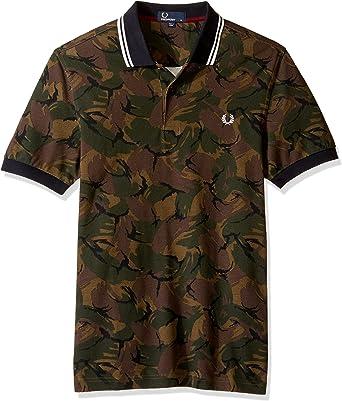 Fred Perry Camisa de Camuflaje piqué para Hombre - Multi -: Amazon ...