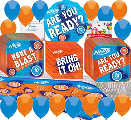 Amazon.com: Nerf Party Supplies - Juego de platos de ...