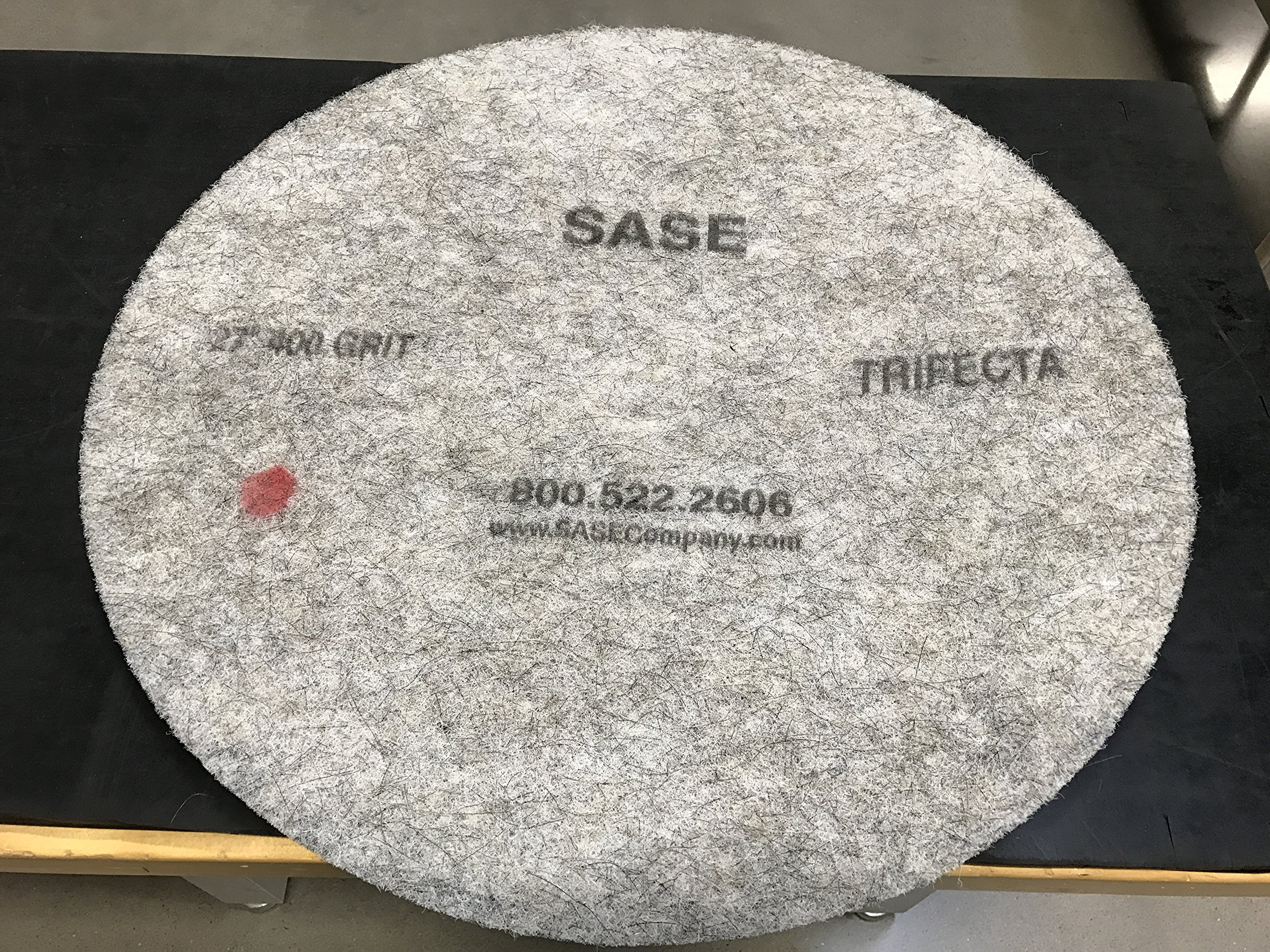 27 Inch 2 Pack Sase Trifecta Super Gloss High Speed Polishing Pads 400 Grit by SASE