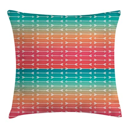 Incredible Arrow Throw Pillow Cushion Cover By Ambesonne Geometric Home Interior And Landscaping Staixmapetitesourisinfo