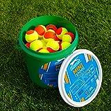 Slazenger Mini Tennis Balls x 60 - Orange/Stage 2 [Net World Sports]