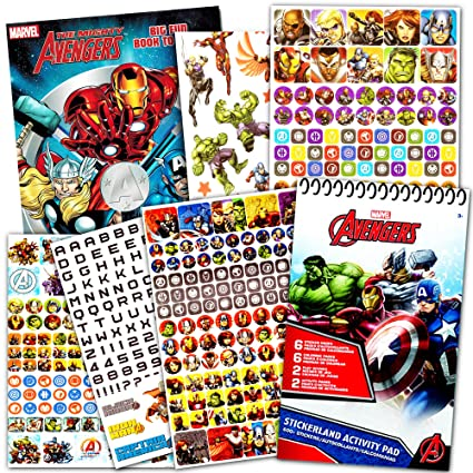 Marvel Avengers Coloring Book And Over 500 Stickers Captain America Thor The