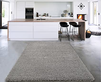. Sweet Home Stores Cozy Shag Collection Solid Shag Rug Contemporary Living    Bedroom Soft Shaggy Area Rug  79  L x 111  W  Grey