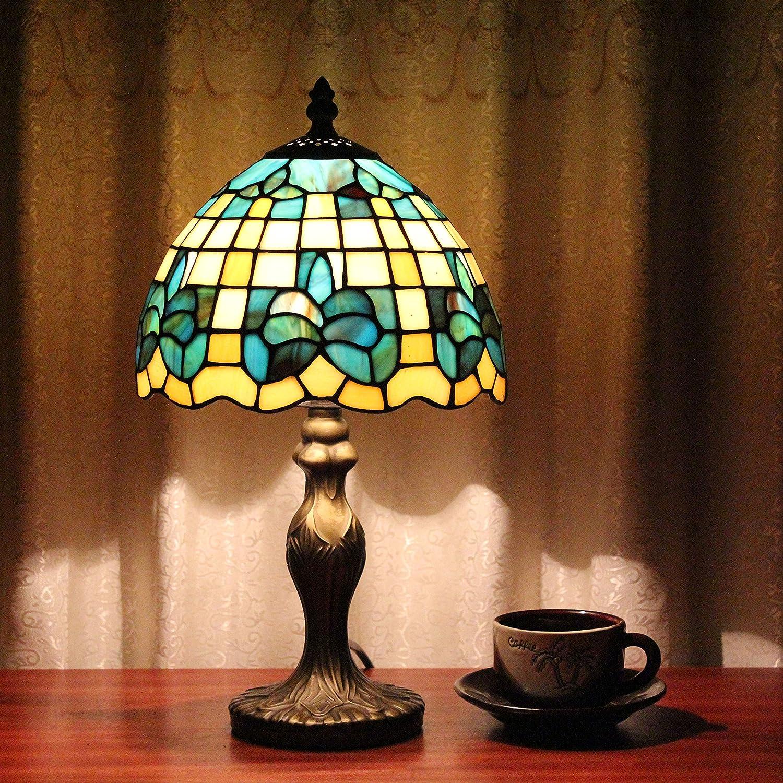 8 pollici Lampada da tavolo in vetro vintage realizzata a mano Lampada da tavolo in vetro coloreato a mano per Cafe Bar Club KTV scrivania ristorante bar illuminazione decorativa