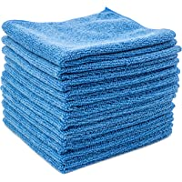 """Dry Rite Best Magic Microfiber Cloth - Professional Series Cleaning Towels for Fine Auto Finishes, Interior, Chrome, Kitchen, Bath, TV, Glass- Non Scratching, Streak Free, Use Wet or Dry - 12"""" x 12"""""""