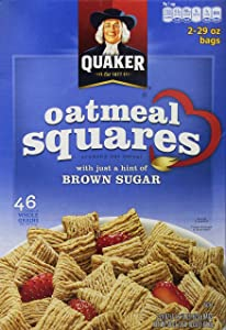 Quaker Oatmeal Squares Crunchy Oatmeal Cereal, 58 Ounce