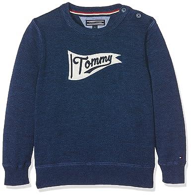 Tommy Hilfiger Jungen Pullover H Intarsia CN Sweater L S, Blau (Navy Blazer efcc84c4a9