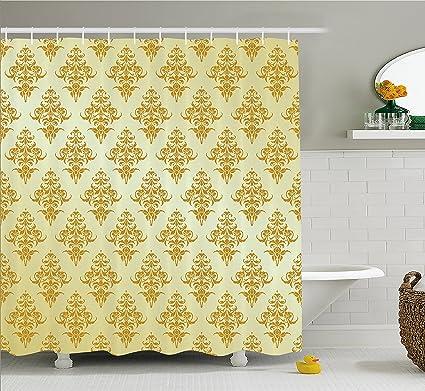 95 Mustard Shower Curtain
