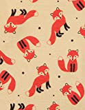 Leveret Kids Fox Baby Girls Footed Pajamas