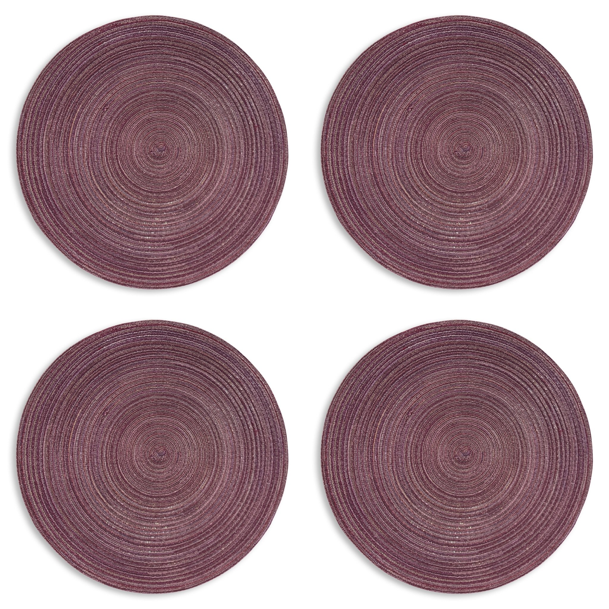 The Everyday Essential Round Placemats, Set of 4, 15 Inch, Fine Polyester Fabric, Machine Wash, By Whole House Worlds