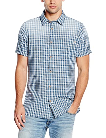 Jjvdixon Shirt S/S One Pocket, Chemise Homme, Multicolore (Federal Blue Fit:Slim), Small (Taille Fabricant: Small)Jack & Jones