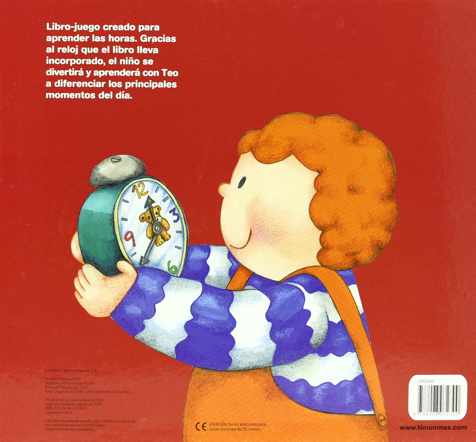 ¿Qué hora es, Teo?: TEO / VOLUMENES ESPECIALES: 9788408072300: Amazon.com: Books