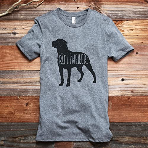 Amazoncom Rottweiler Dog Silhouette Womens Fashion Relaxed T
