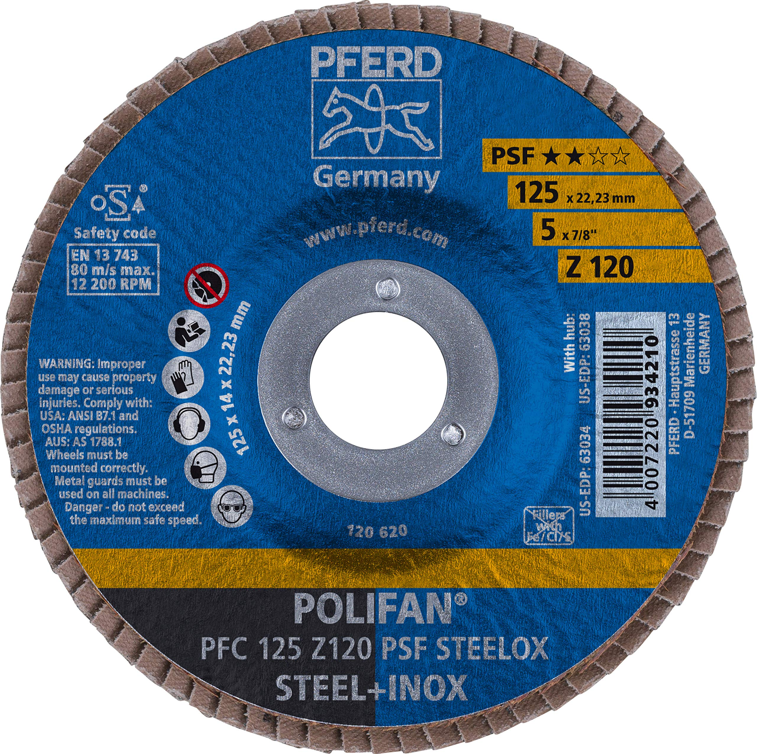 """5"""" x 7/8"""" POLIFAN Flap Disc - Conical"""