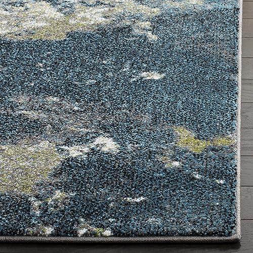 Safavieh Glacier Collection GLA123B Abstract Blue and Multi Area Rug 8 x 10