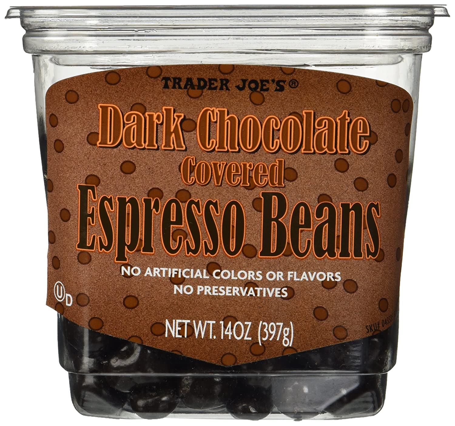 Amazon.com : Trader Joe's Dark Chocolate Covered Espresso Beans 14 ...