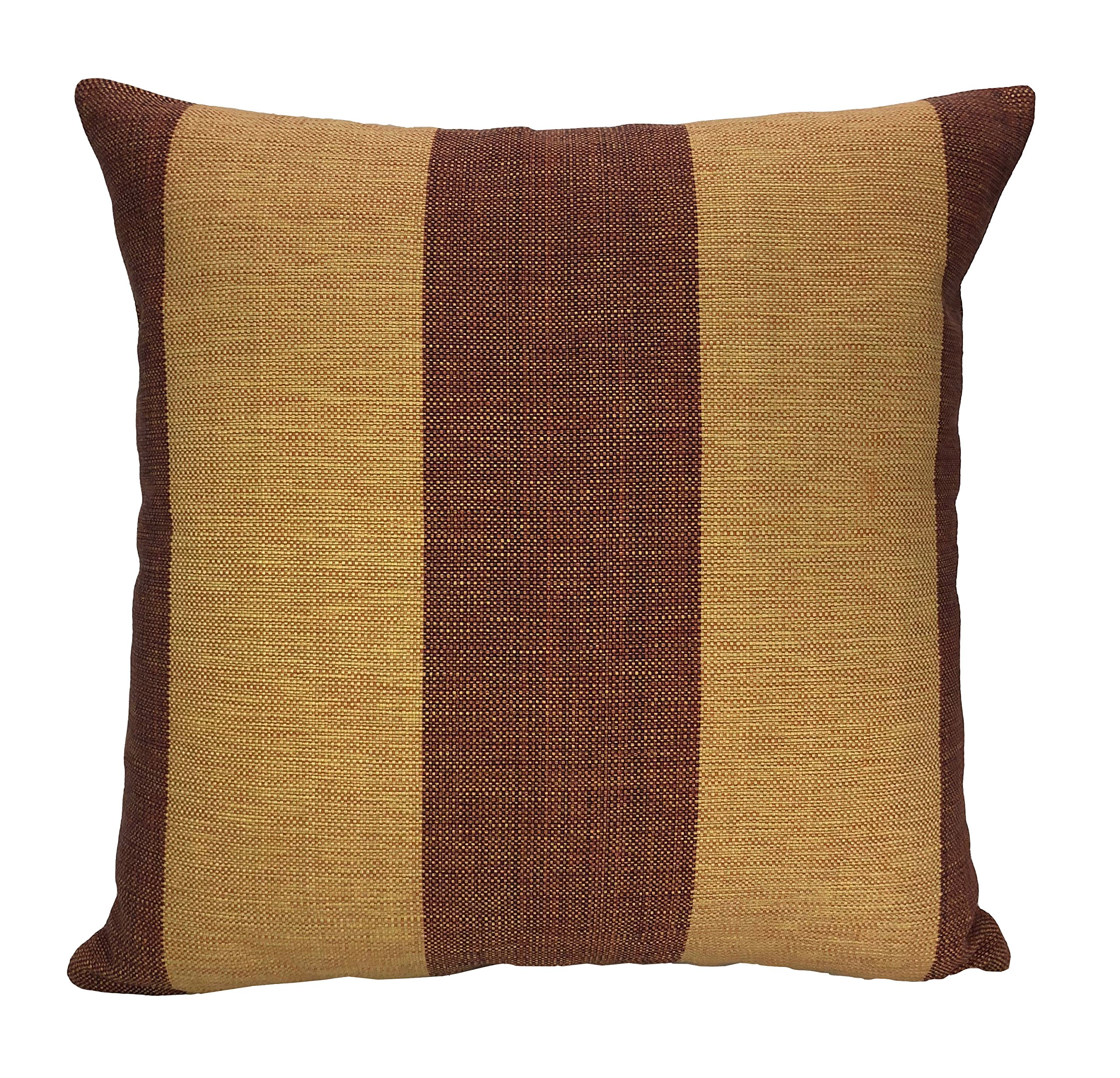 ArtiFab Cushion of Size 18X18 Inch, 100% Cotton, Wood Brown Stripe Decorative Pillow Cover, Design Throw Pillows for Sofa by ArtiFab (Image #5)