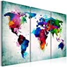 """murando Canvas Wall Art 120x80 cm / 47.2"""" x 31.5"""" Non-Woven Canvas Prints Image Framed Artwork Painting Picture Photo Home Decoration 3 Pieces World map k-A-0006-b-h"""
