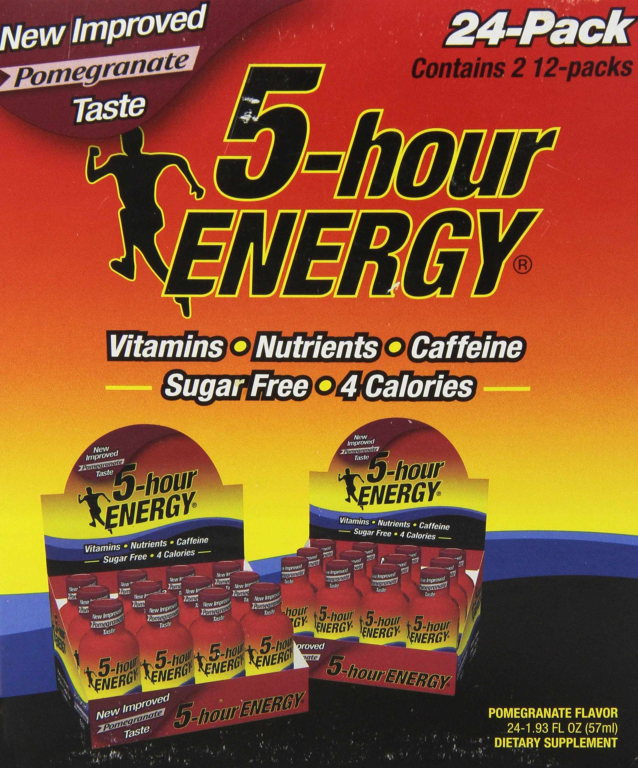 5-Hour Energy Nutritional Drink, Pomegranate, 1.93 oz, 24 Count by 5-Hour Energy