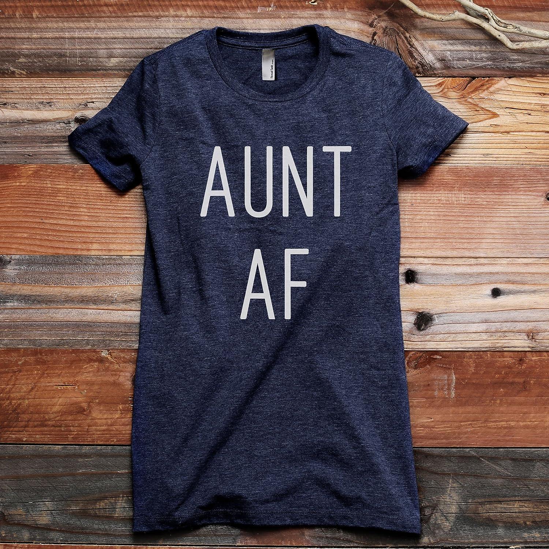 95b612c9 Amazon.com: Thread Tank Aunt AF Women's Fashion Relaxed T-Shirt Tee:  Clothing