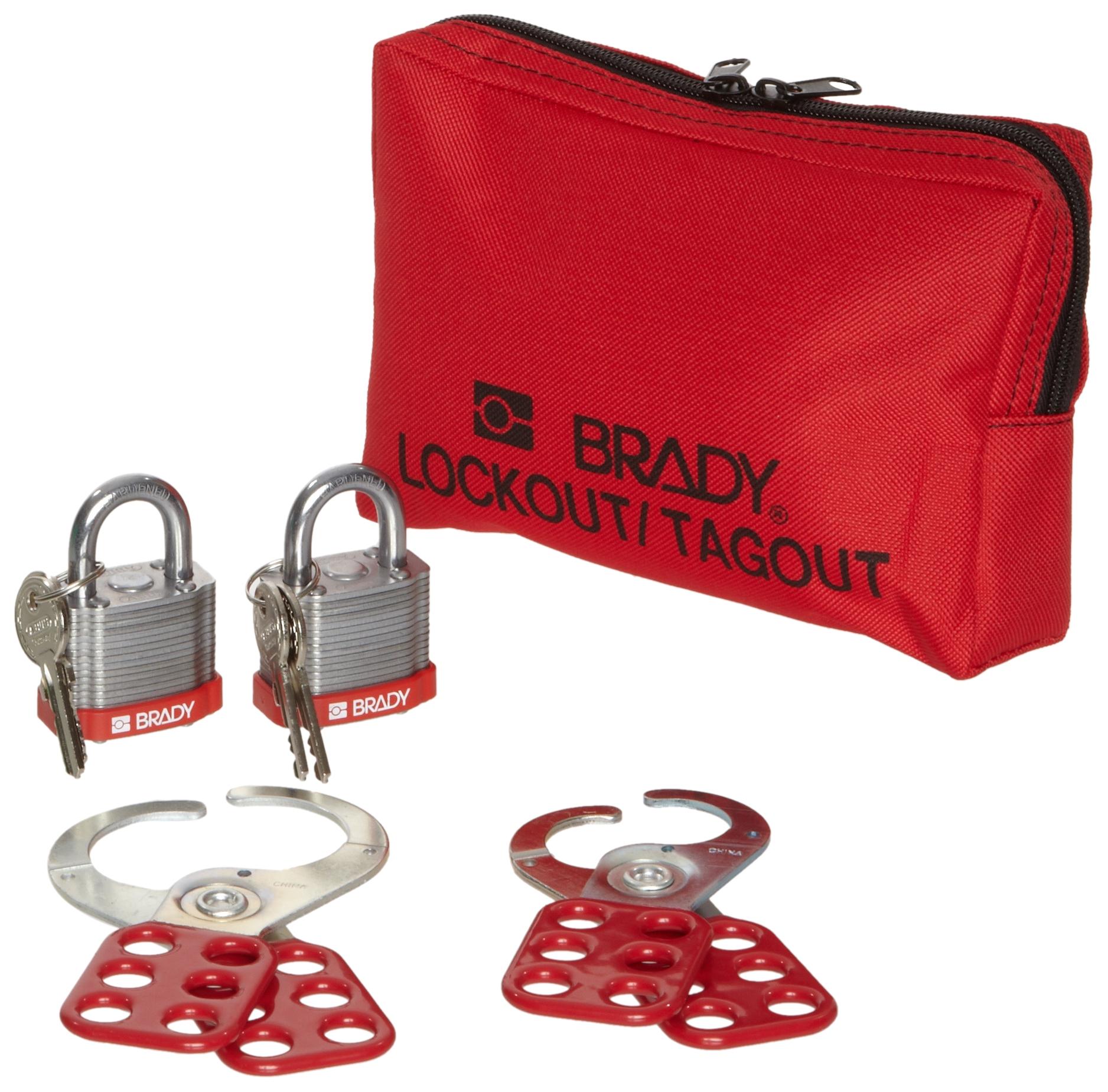 Brady Personal Lockout Pouch, Includes 2 Steel Padlocks