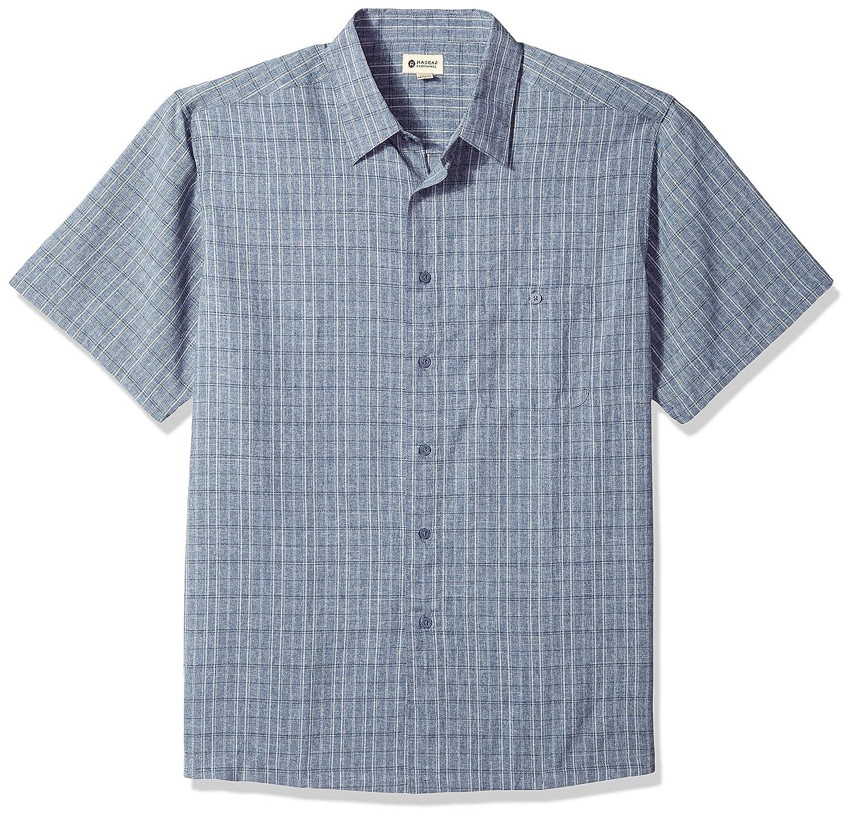 Haggar Mens Short Sleeve Microfiber Woven Shirt