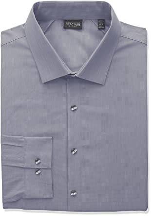 Mens Dress Shirt Kenneth Cole Slim Fit Luxury Pure Cotton Long Sleeve Men's Clothing