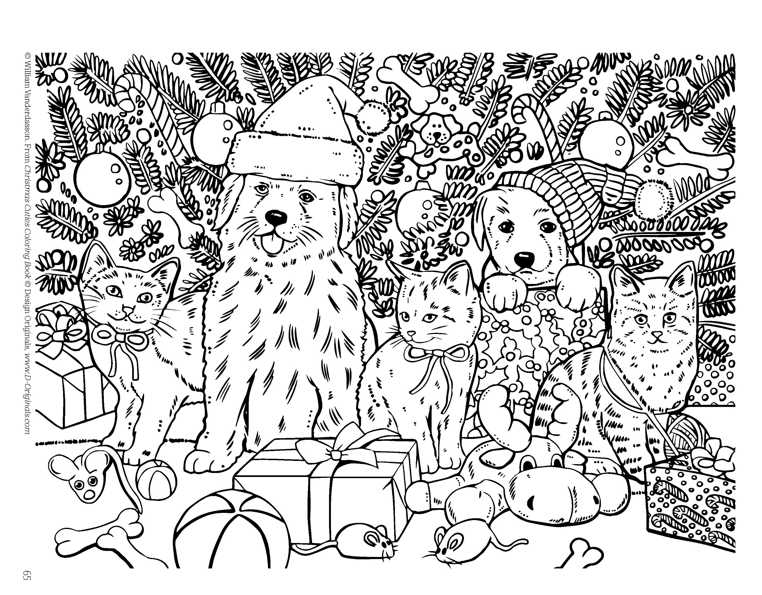 Coloring book download zip - Amazon Com Christmas Cuties Coloring Book Design Originals Dozens Of Puppies Kittens In Festive Holiday Settings One Side Only Designs On Extra Thick