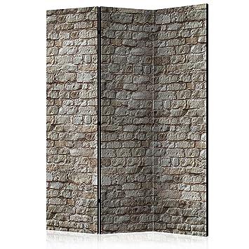 murando Biombo con Tablero de Corcho Ladrillo 135x172 cm - de Impresion Bilateral en el Lienzo