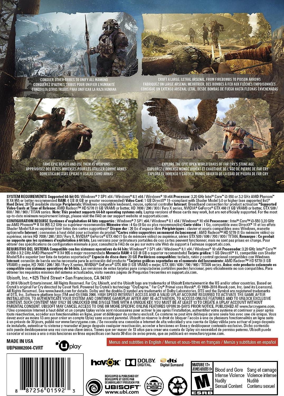 Amazon com: Far Cry Primal - PC Standard Edition: Video Games