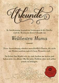 Urkunde Personalisiert Geschenk Karte Danksagung Ehrentitel Mama Oma