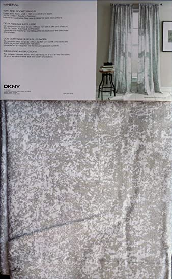Amazon.com: DKNY Set of 2 Extra Long Window Curtains Panels 50 by ...
