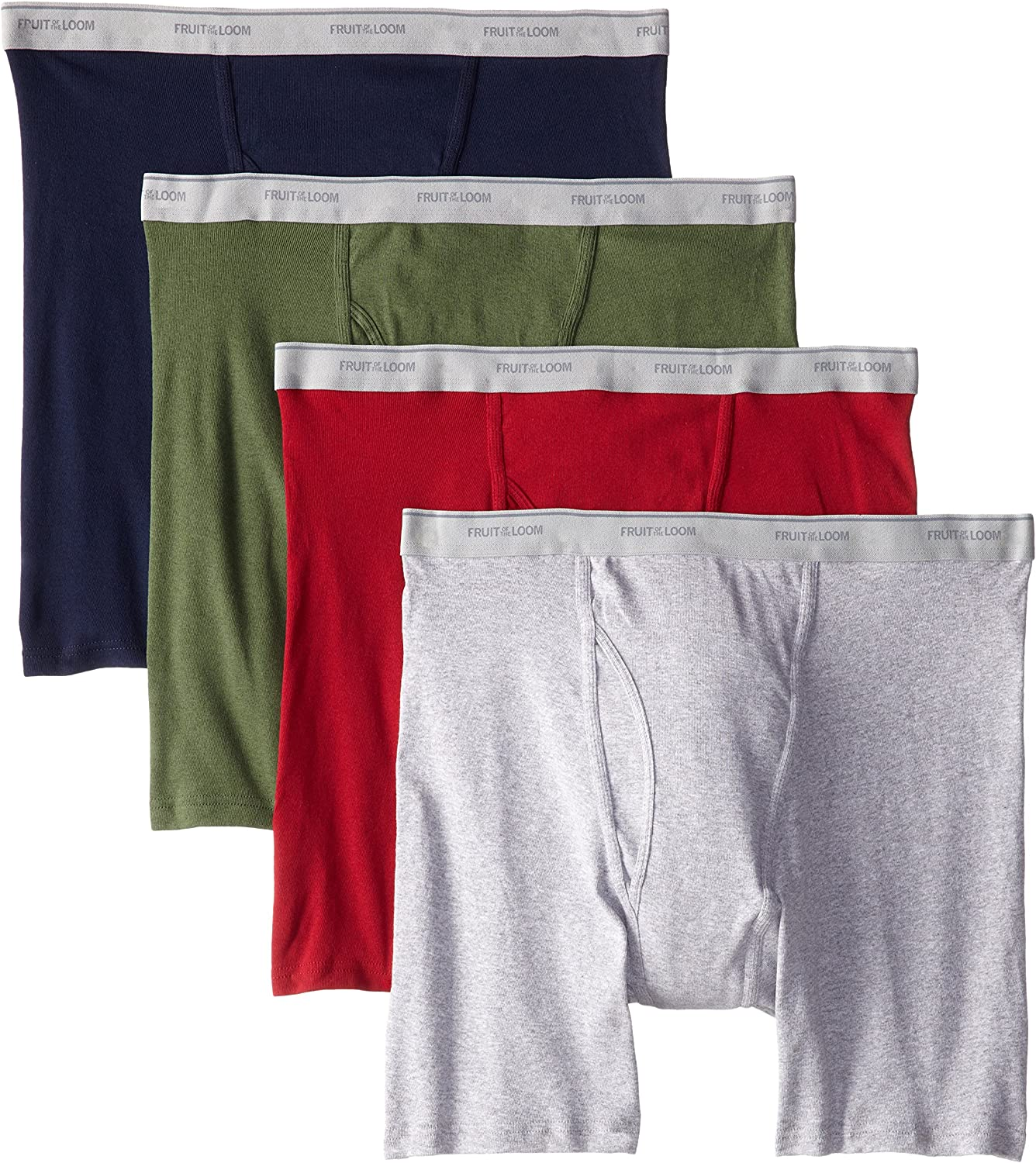 Pack of 4 Fruit of the Loom Mens  X-Size Boxer Brief Assorted 3X-Large