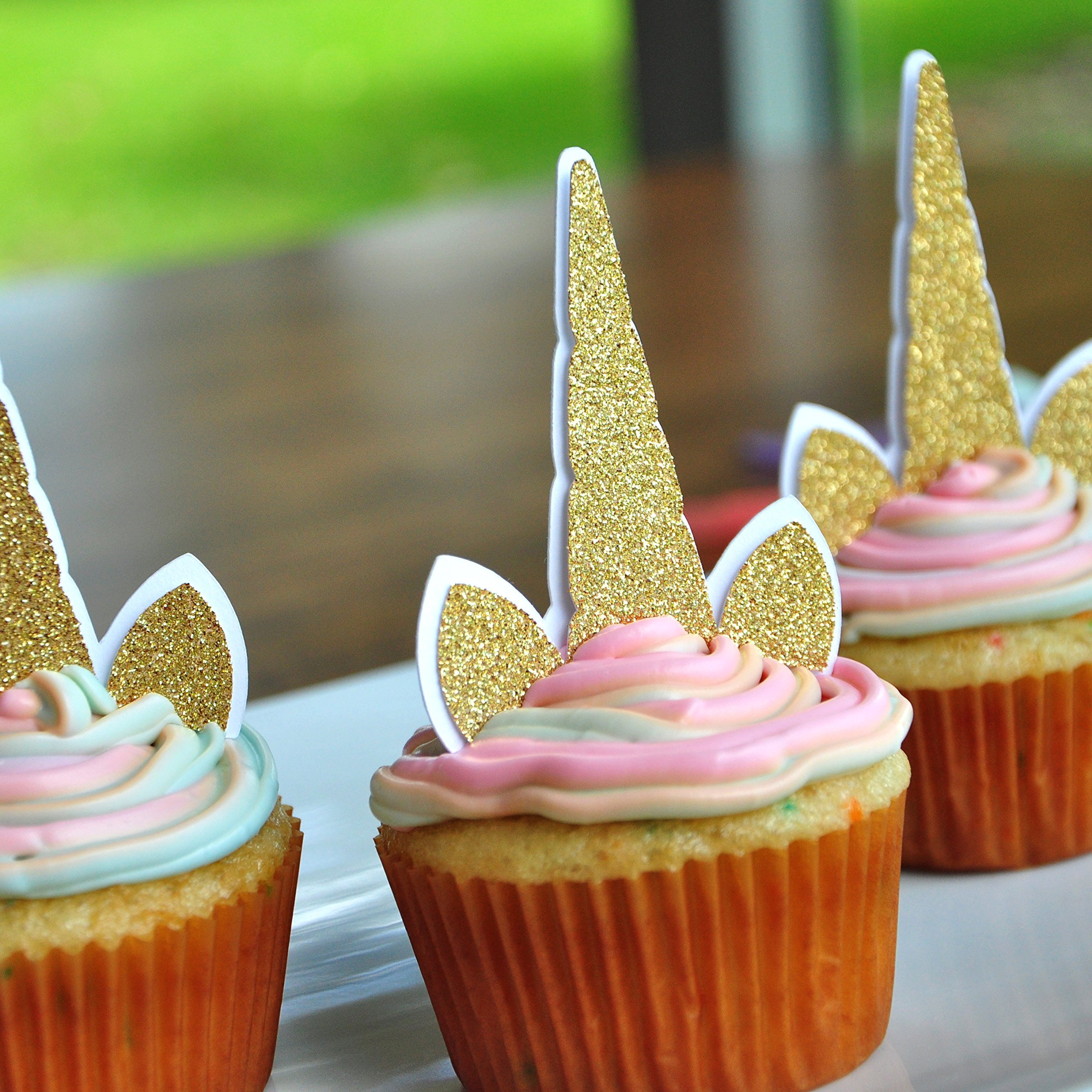 Unicorn Cupcake Toppers. Unicorn Birthday. Unicorn Party Supplies. Unicorn Horn. 12CT.