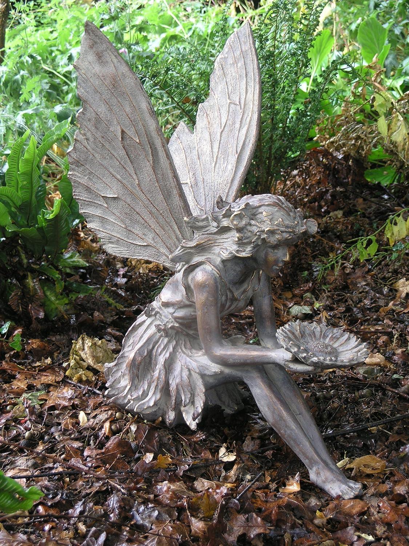 Attrayant Large Garden Ornaments   Sitting Fairy Antique Bronze Sculpture:  Amazon.co.uk: Garden U0026 Outdoors