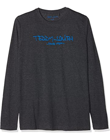 0756f06a6465d Teddy Smith Ticlass3 - T-shirt - Imprimé - Col ras du cou - Manches