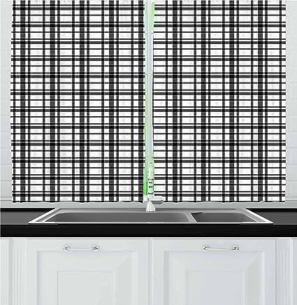 Black And White Kitchen Curtains Unique Decorating Design