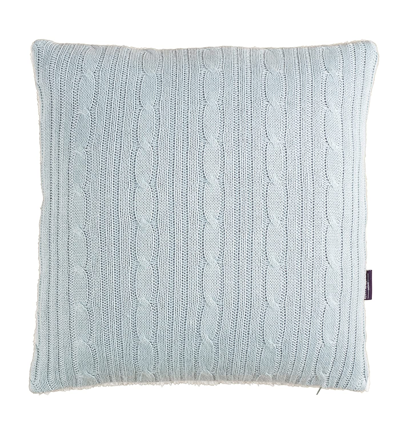 Brielle Cozy Cable Knit Throw with Sherpa Lining, Grey 807000160174