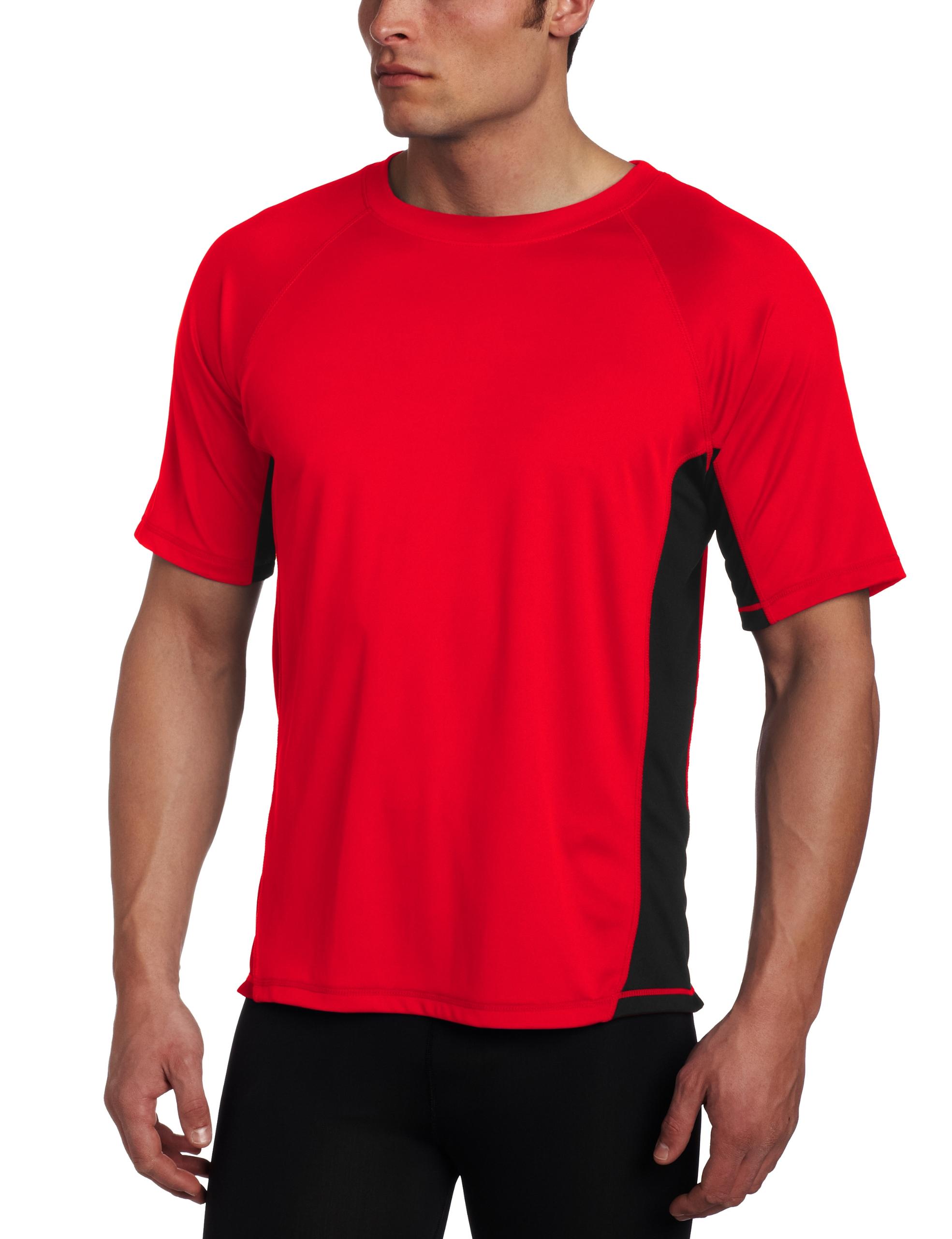 Kanu Surf Men's CB Rashguard UPF 50+ Swim Shirt, Red, 2X-Large