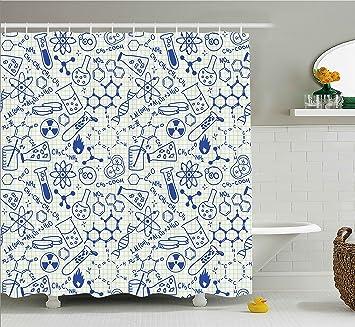 royal blue shower curtain set. Kids Decor Shower Curtain by Ambesonne  Science Chemistry Geometry Math Nerd Geek Genius Themed Design Amazon com