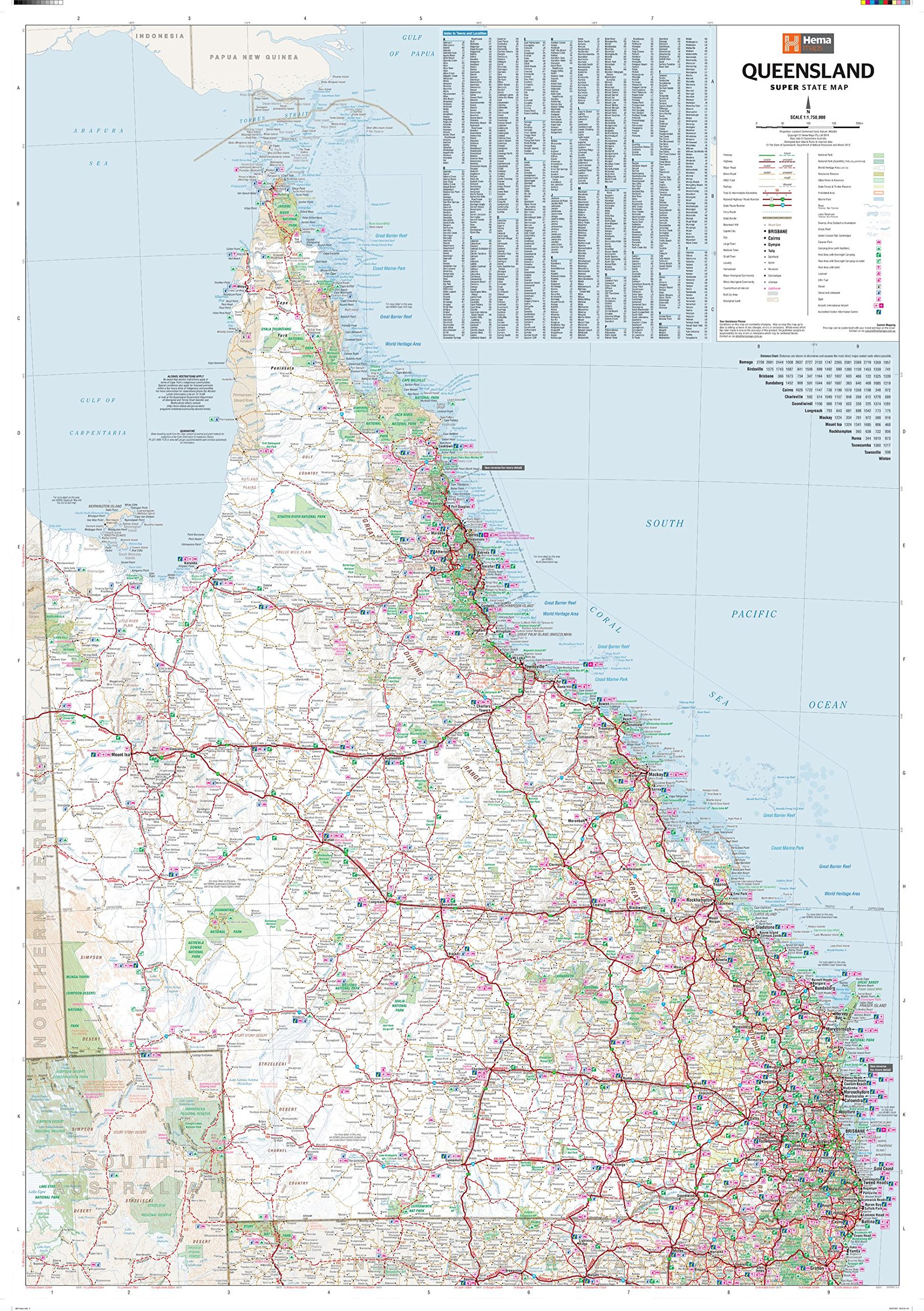 Download Queensland Supermap - 40.5 x 57.5 inches - Paper - Flat Tubed PDF