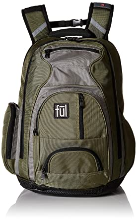 Amazon.com: Ful Free Fallin' Padded Laptop Backpack, Fits Up to 17 ...