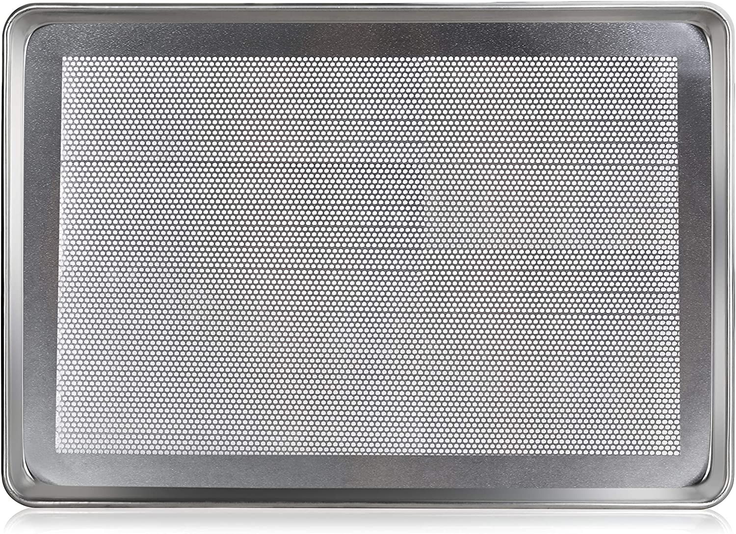 New Star Foodservice 36787 Commercial 18-Gauge Aluminum Sheet Pan, Perforated, 18 x 26 x 1 inch (Full Size) Pack of 12