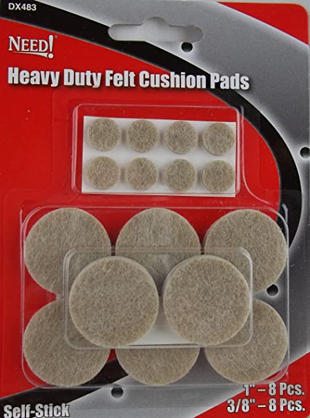 Dorman 16 Pc Heavy Duty Felt Cushion Pads For Furniture Lamps