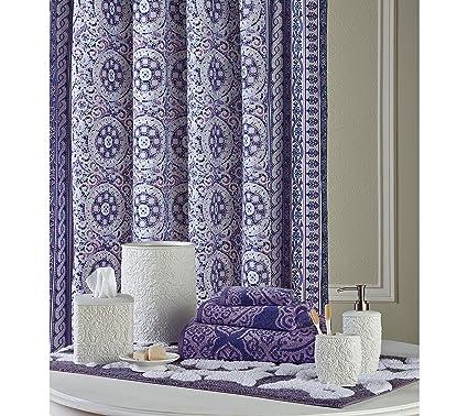 Jessica Simpson Mosaic Border Shower Curtain
